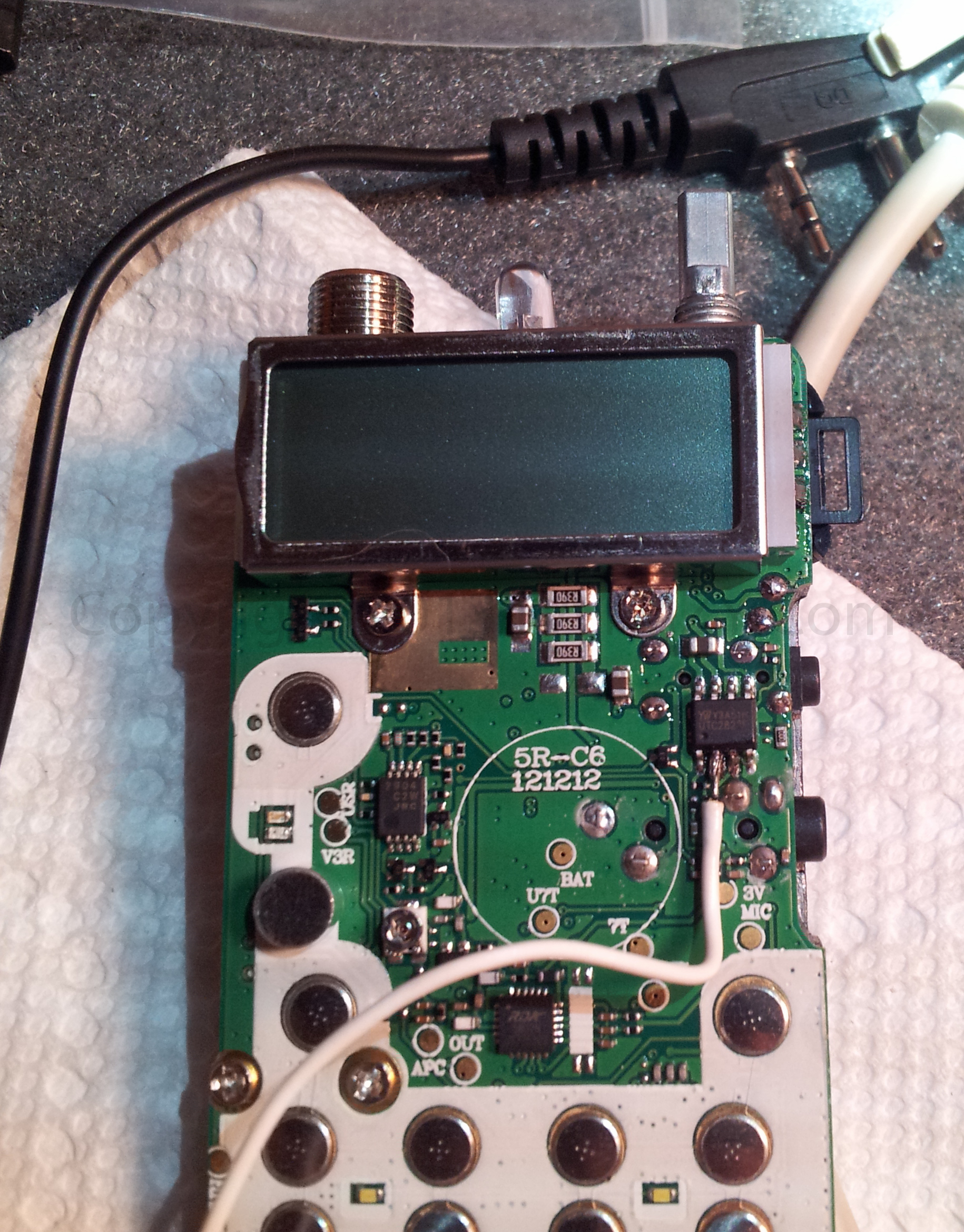 Solder COS wire to Pin-2 (Carefully)